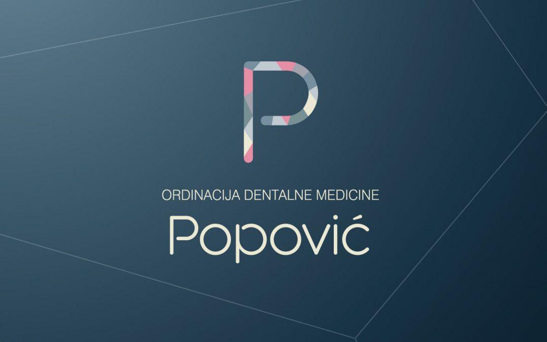 Vizualni identitet ordinacije dentalne medicine dr. Višnje Popović
